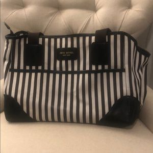 Henri bendel dog carrier white and chocolate brown